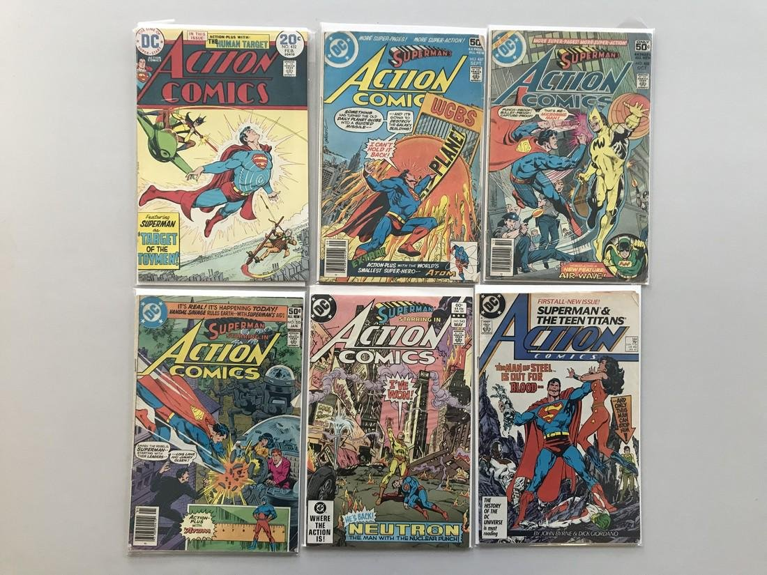 Lot of 6 Action Comics (1938 DC) from #432-584