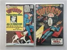 Lot of 2 Superboy (1949-1979 1st Series DC) #146 166 FN