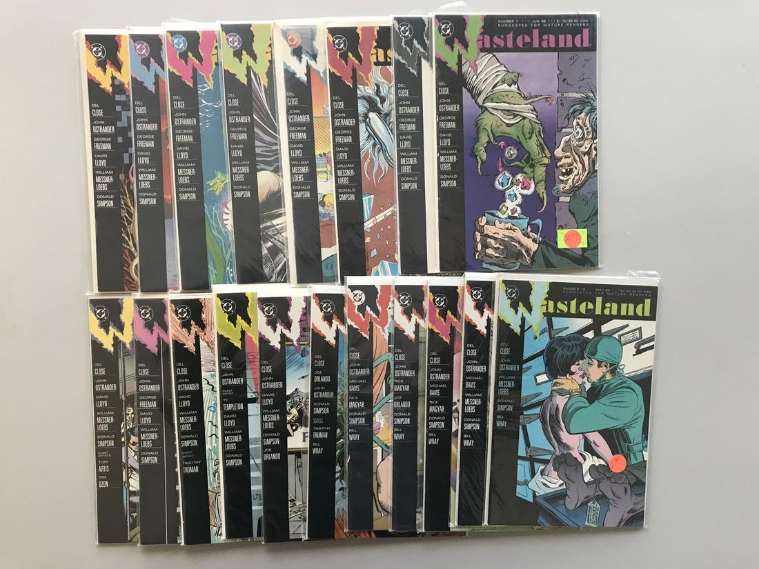 Complete set of 18 Wasteland (1987 DC) #1-18 FN-VF