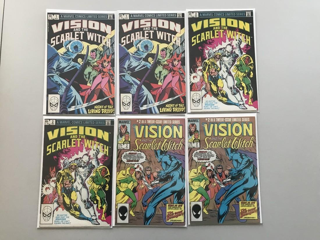 Lot of 12 Vision and the Scarlet Witch (1982 1st