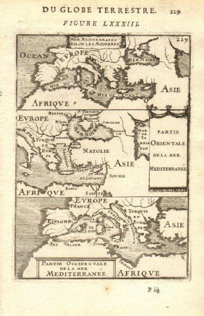 Mallet: Antique Map of the Mediterranean, 1683