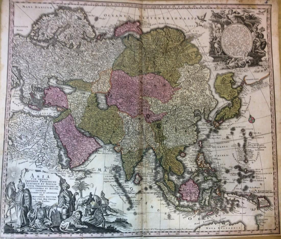 Map of Asia by Seutter, 1740