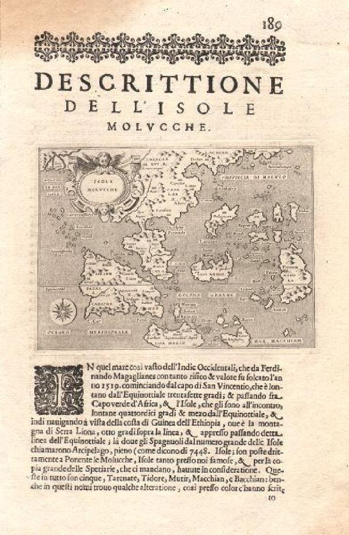 Porcacchi: Antique Map of East Indies & Indochina 1620