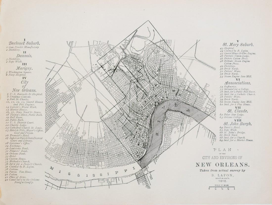 1887 Government Map of New Orleans -- Plan of the City