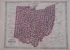1864 Johnson's Map of Ohio -- Johnson's Ohio