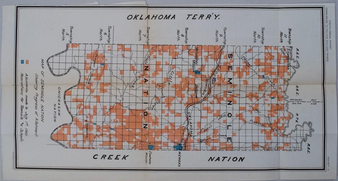 1901 Bien Seminole Nation Map -- Map of Seminole Nation