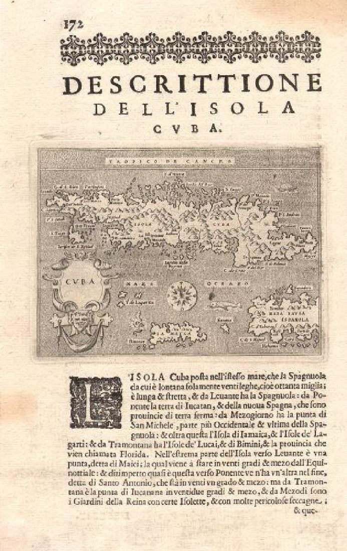 Porcacchi: Antique Map of Jamaica Hispaniola 1620