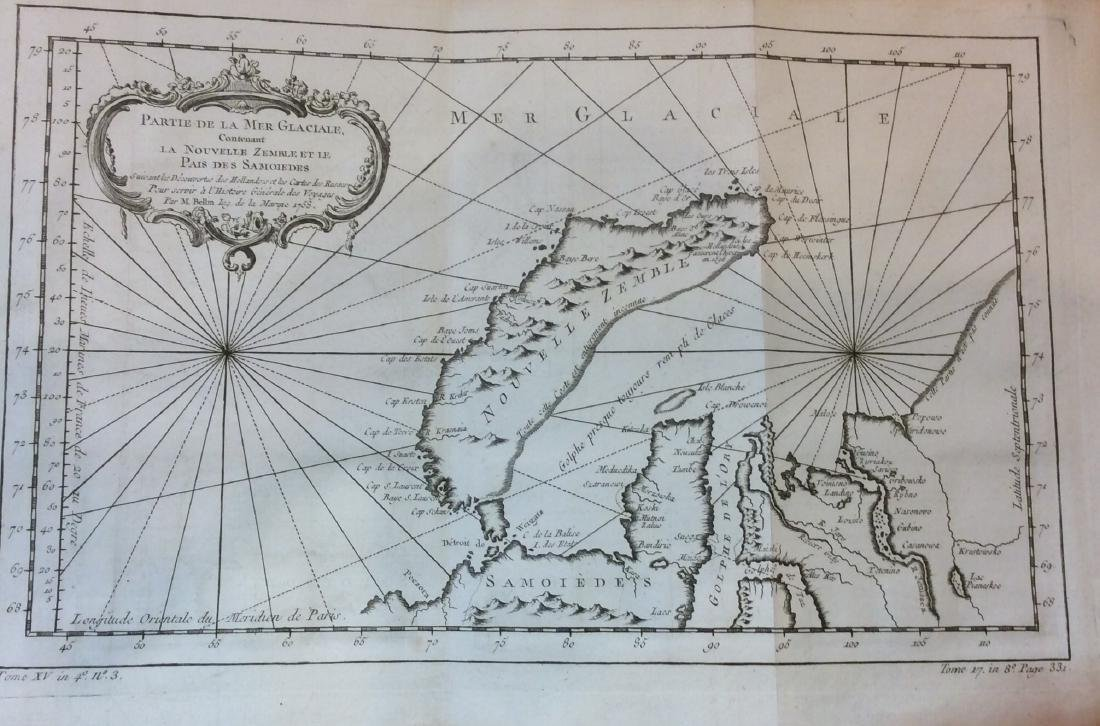 Antique Map of New Zembla by Bellin
