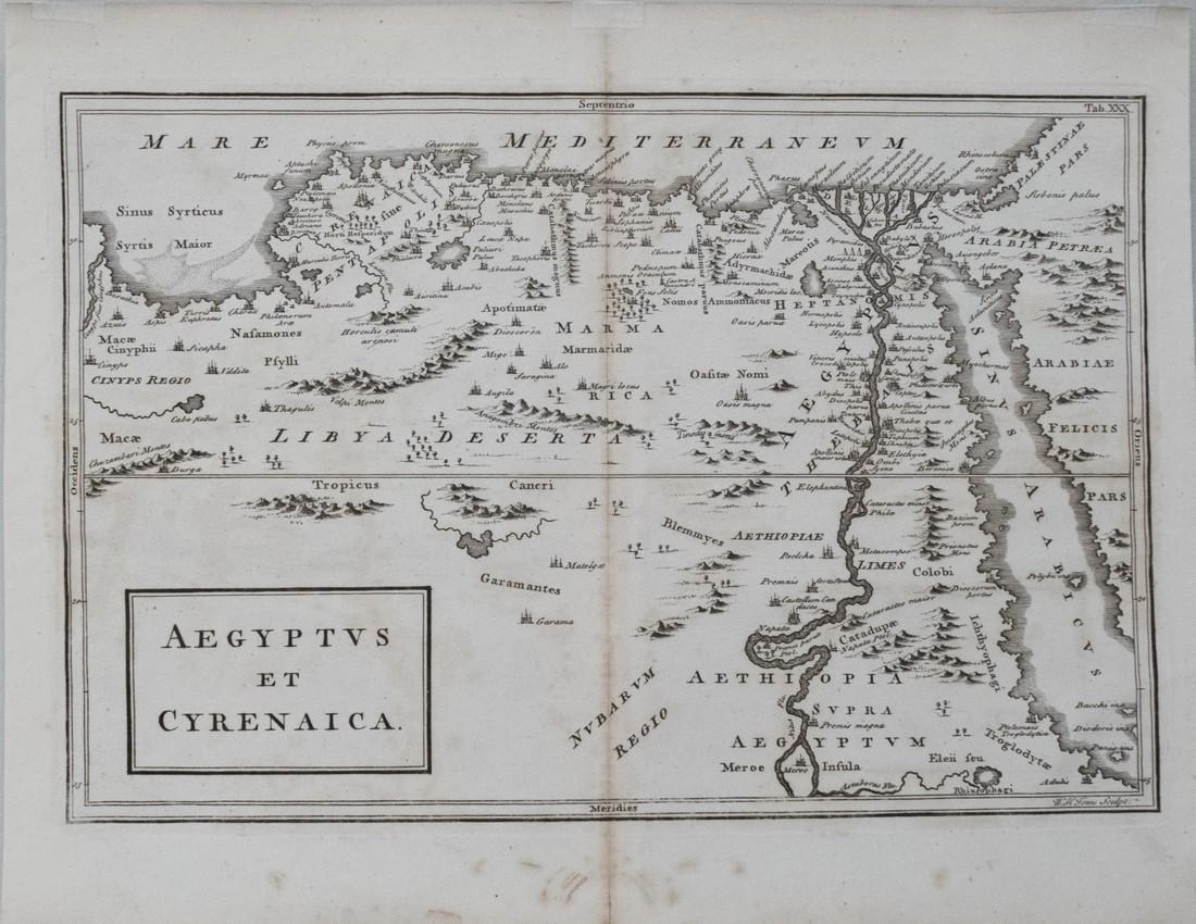 1730 Toms Map North East Africa -- Aegyptus et