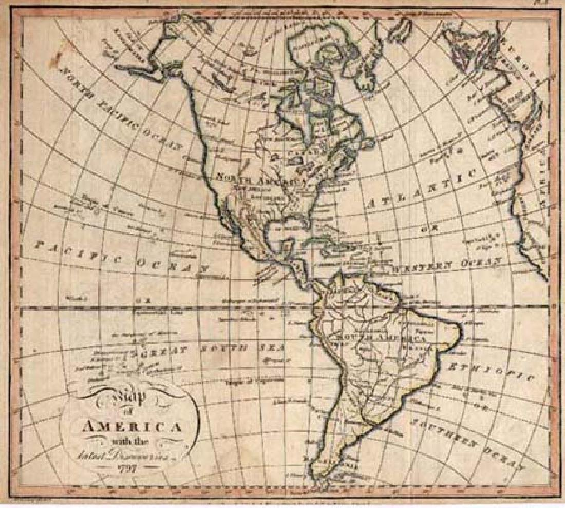 Map of America With the Latest Discoveries 1797