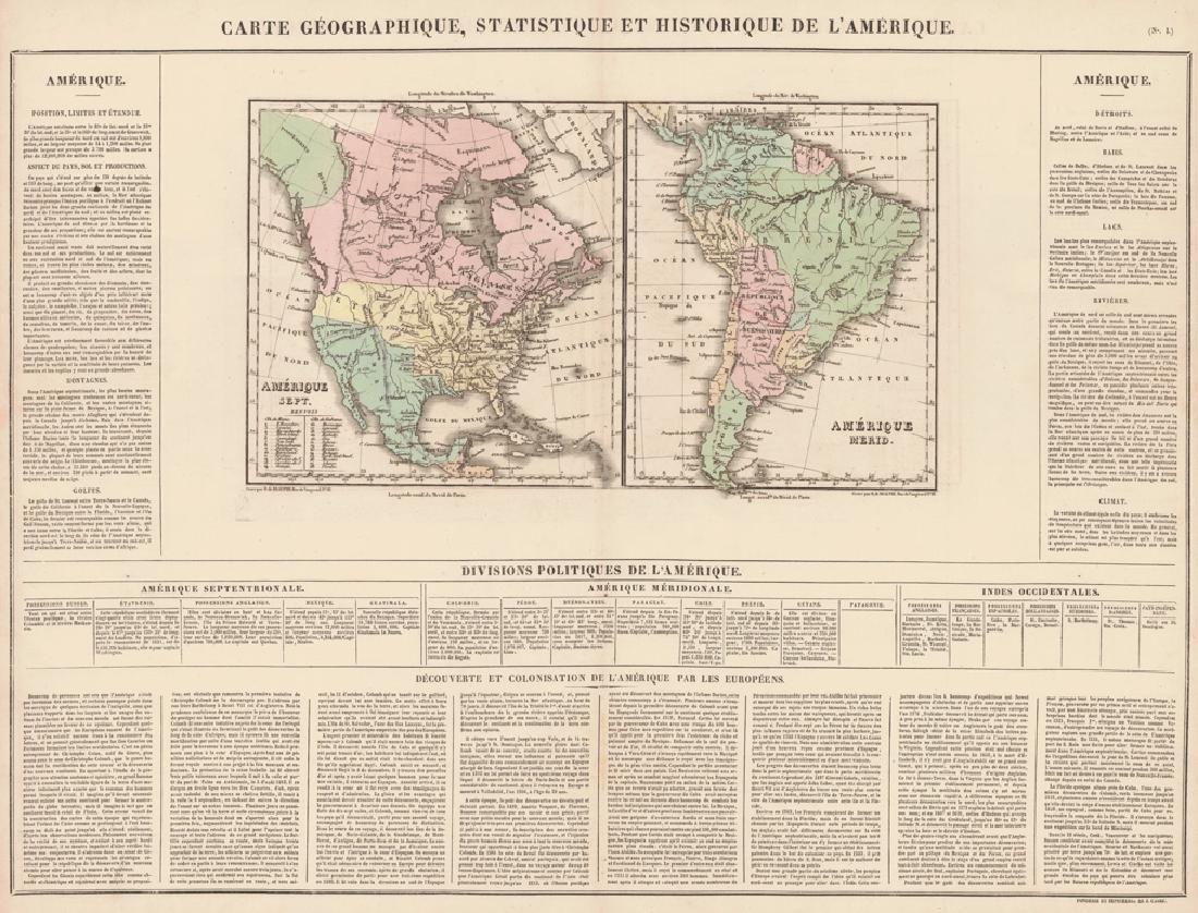 Carte Geographique, Statistique Et Historique De