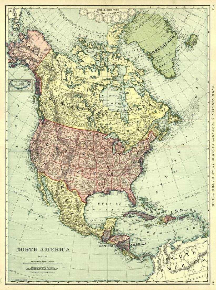 North America Rand, McNally & Co.'S Indexed Atlas of