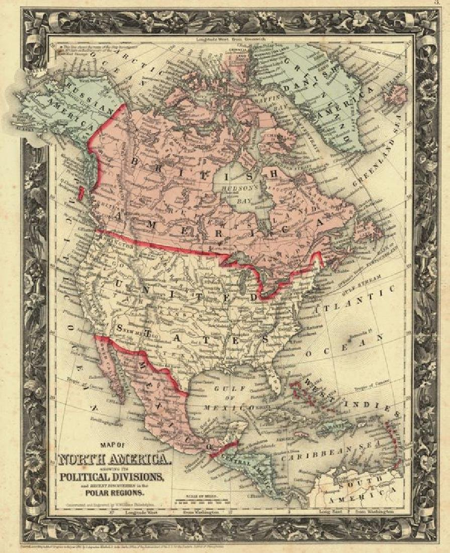 Map of North America. Showing Its Political Divisions,