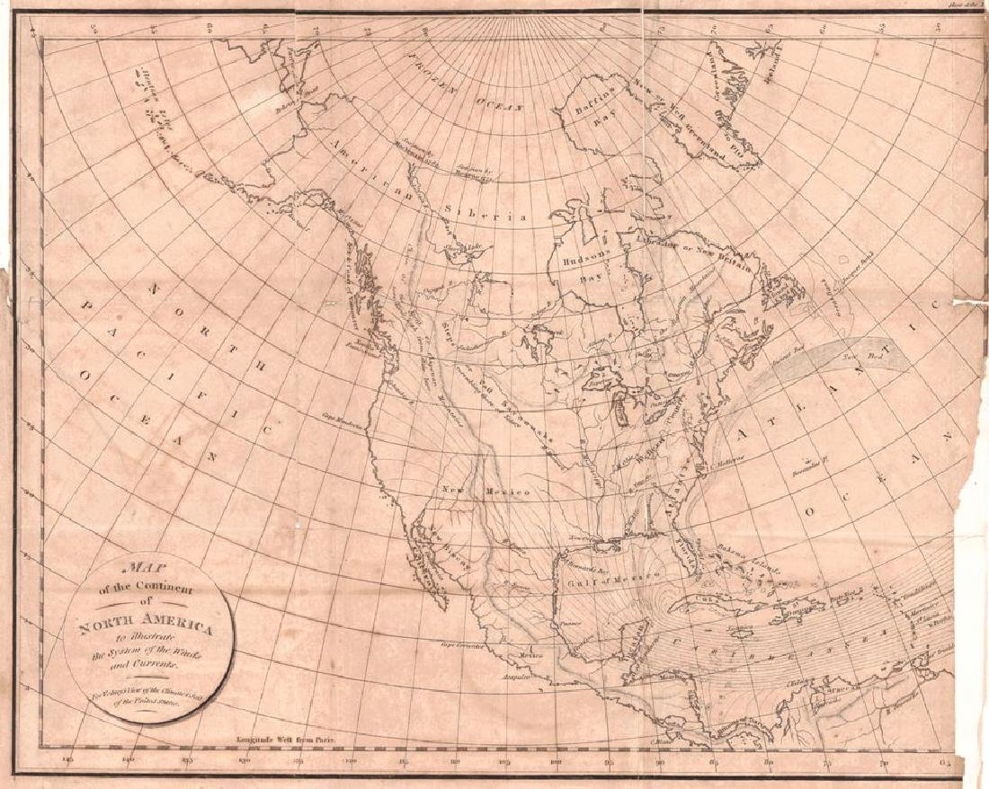 Map of the Continent of North America