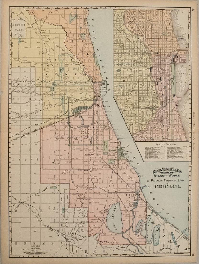 1892 Rand McNally Map of Chicago