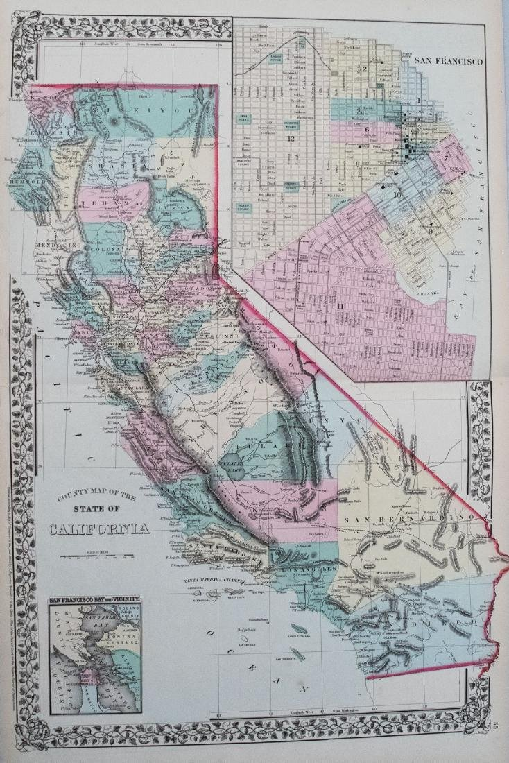 1869 Mitchell Map of California