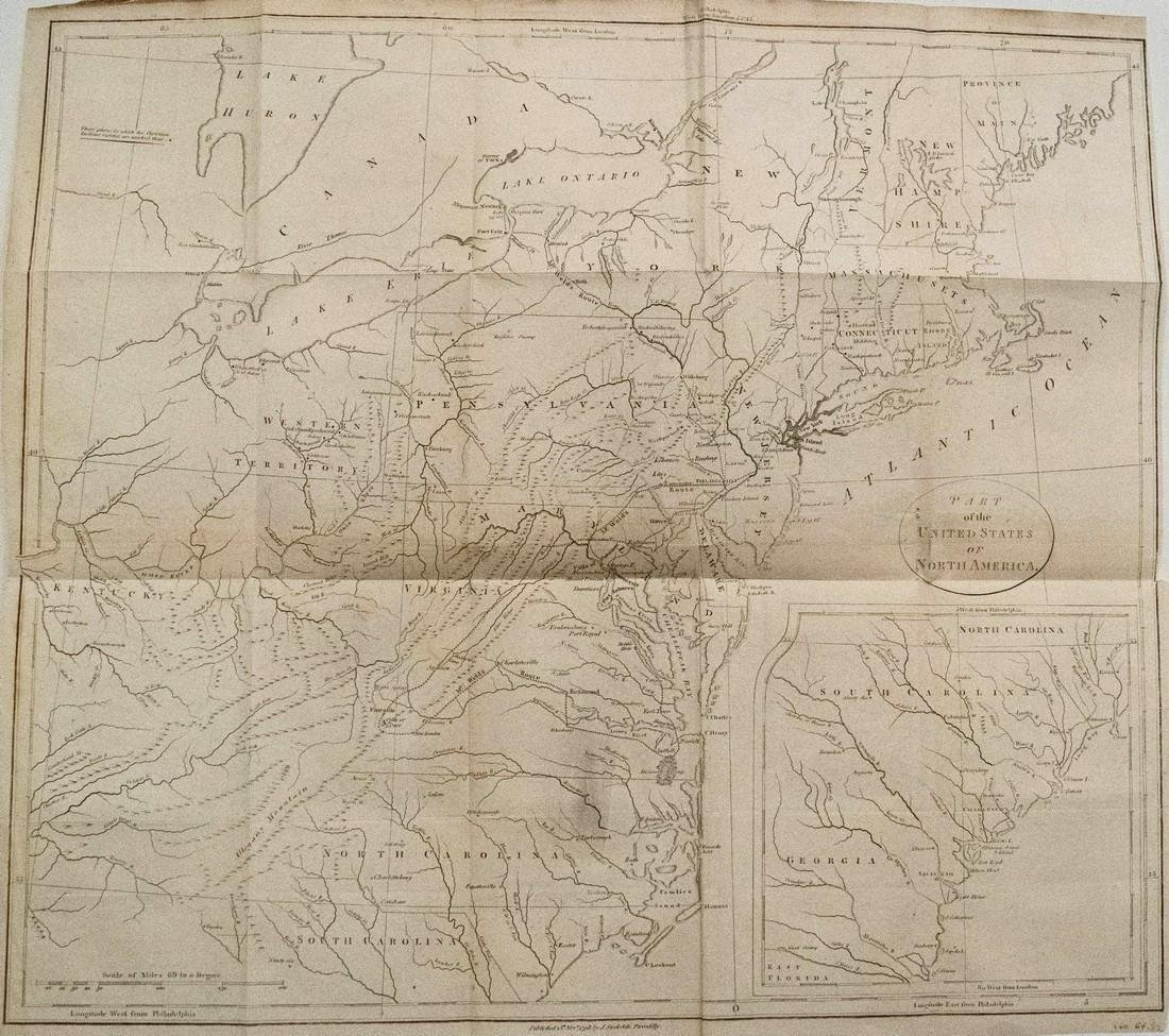 1798 Stockdale Map of Eastern United States