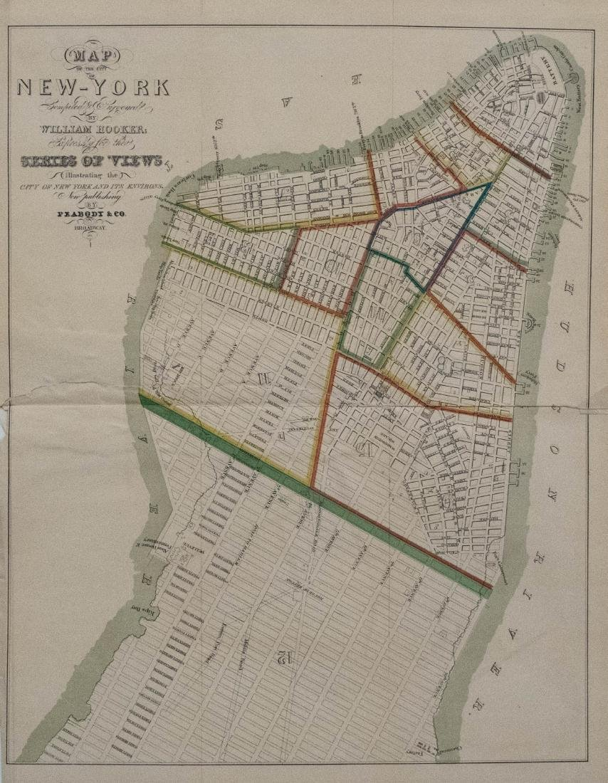 1831 Hooker Lower and Midtown Manhattan Map
