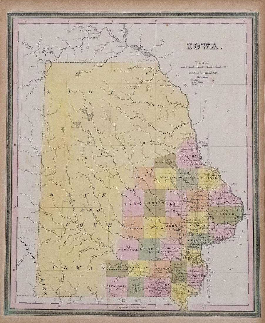 1836 Tanner Map of Iowa