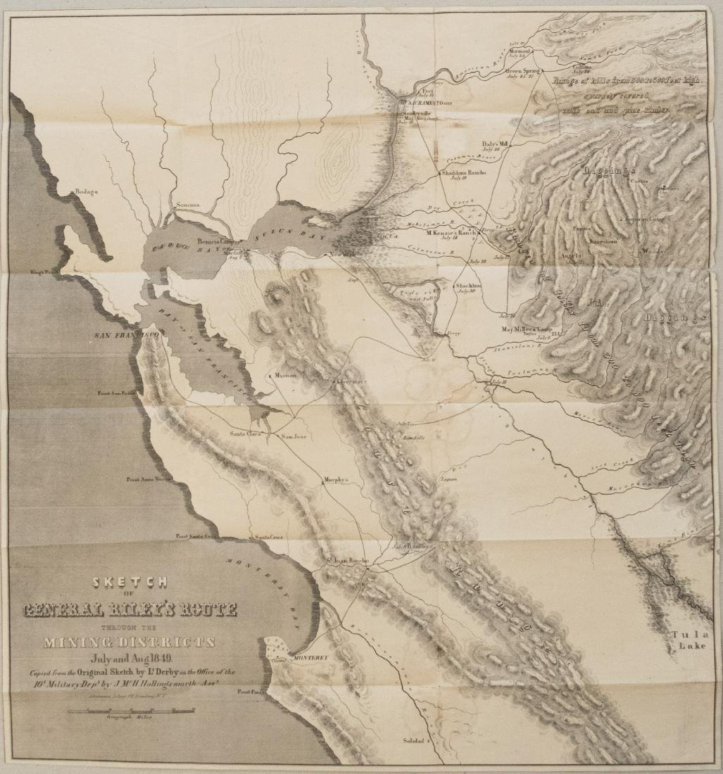 1849 Map of California's Gold Mining District,  Gen.