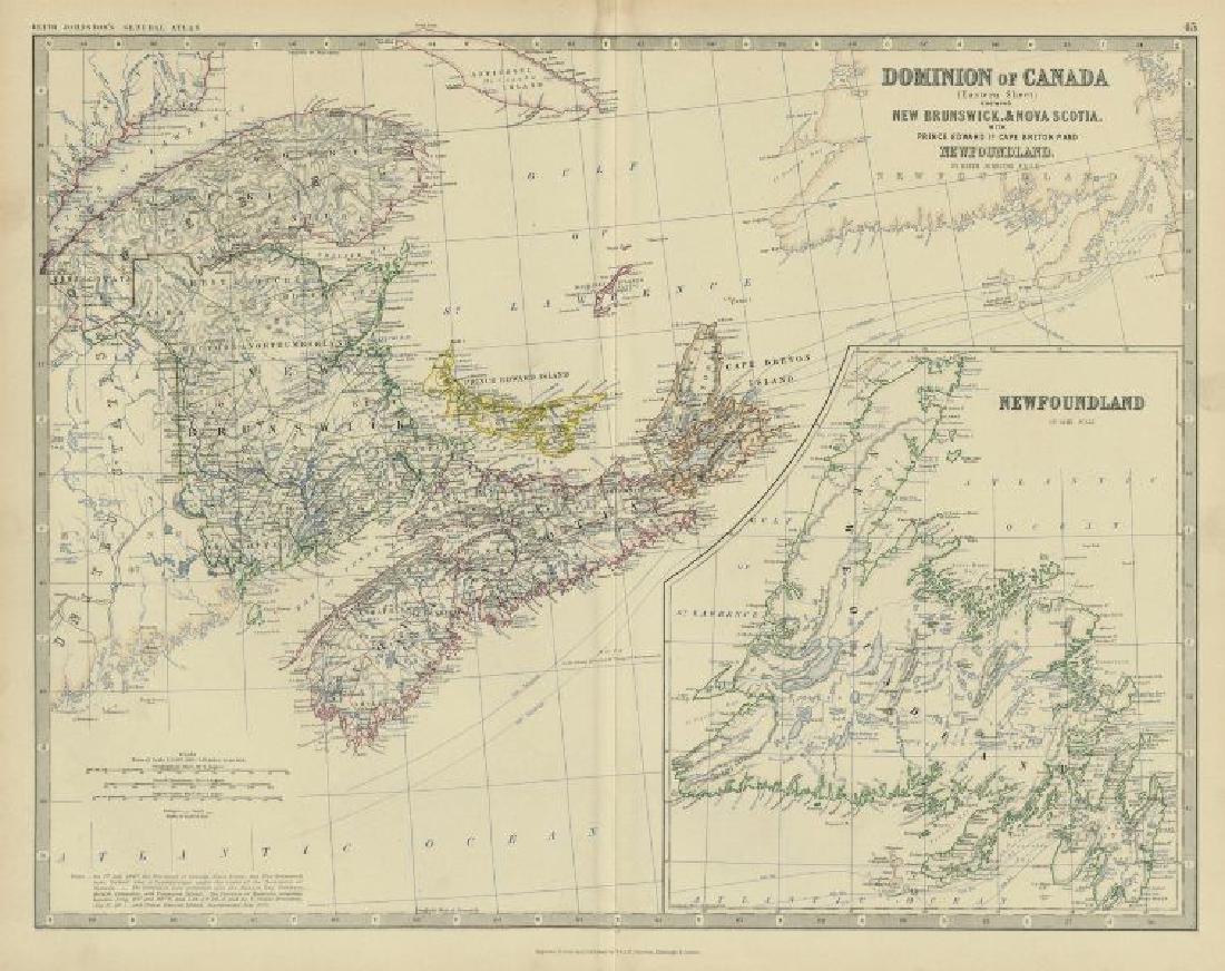 Dominion of Canada (East). Maritimes. Newfoundland.