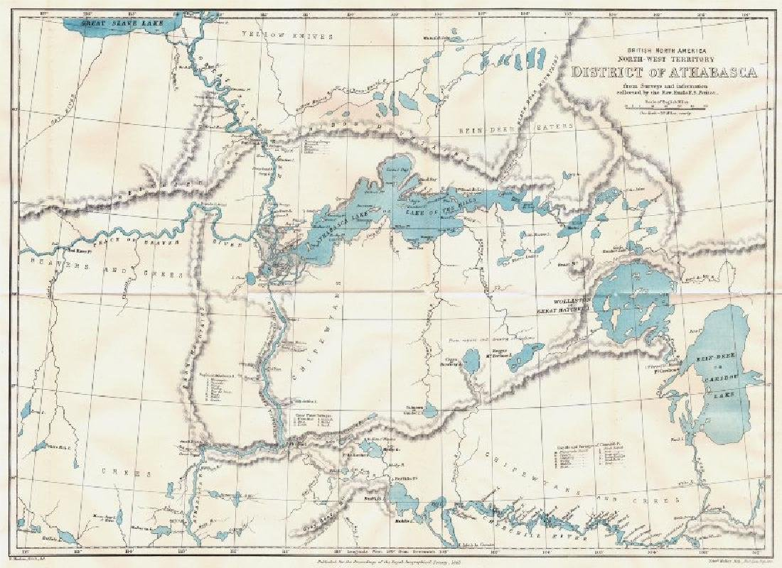 ATHABASCA DISTRICT: British North America. Canada.