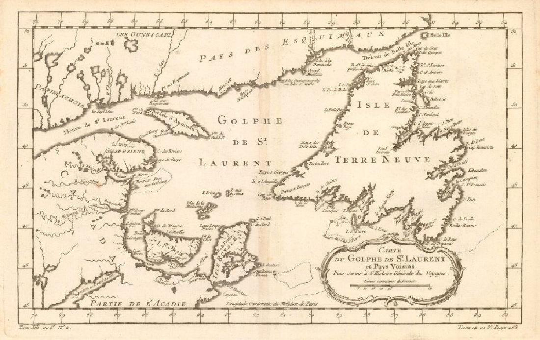 Carte du Golphe de St. Laurent et Pays Voisins'.