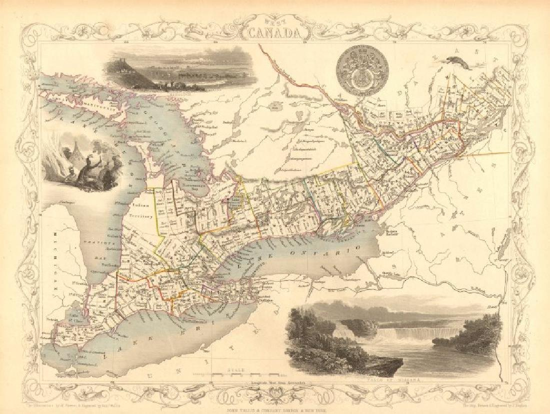 WEST CANADA': Southern Ontario. Shows'Indian territory'
