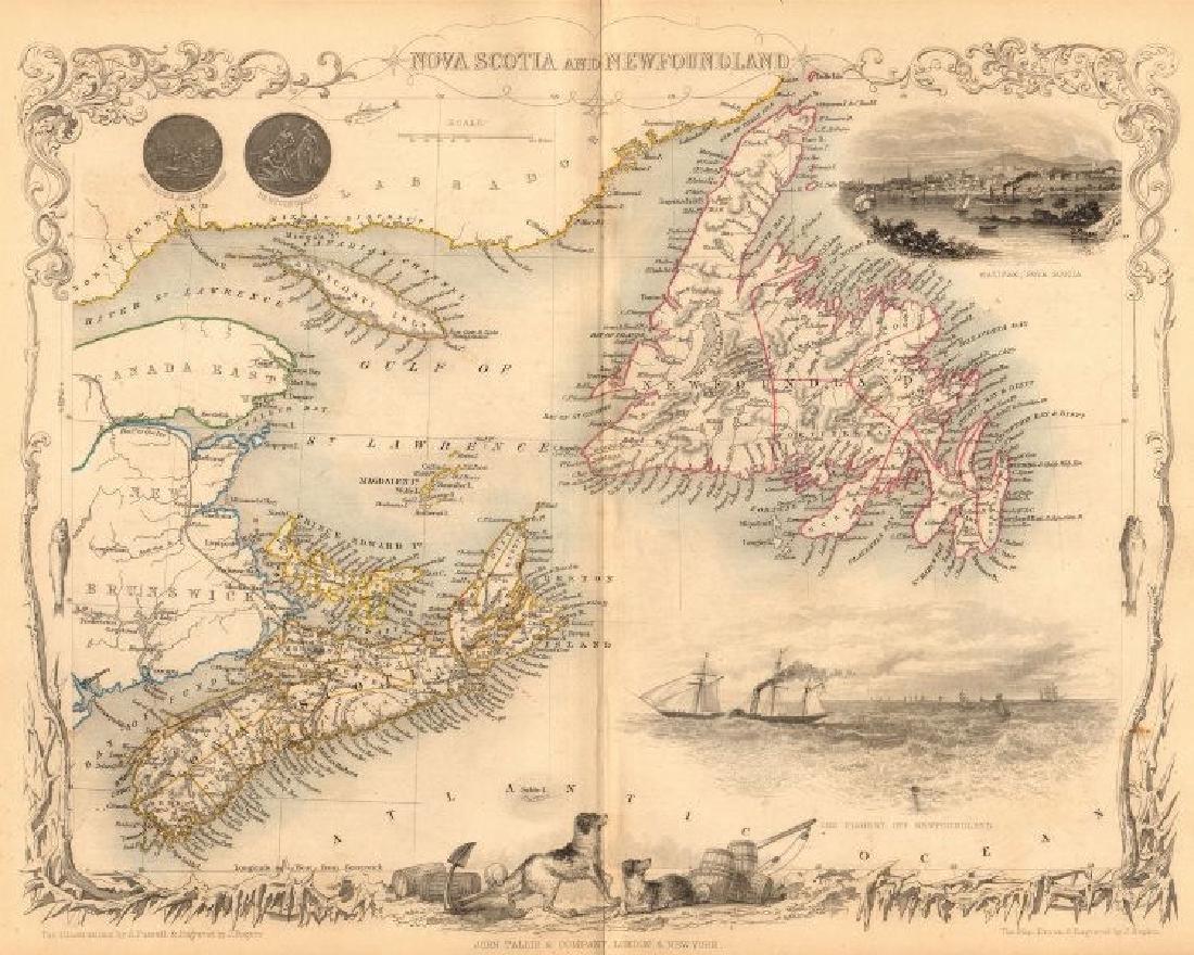 NOVA SCOTIA & NEWFOUNDLAND. Halifax view. Canada. PEI.
