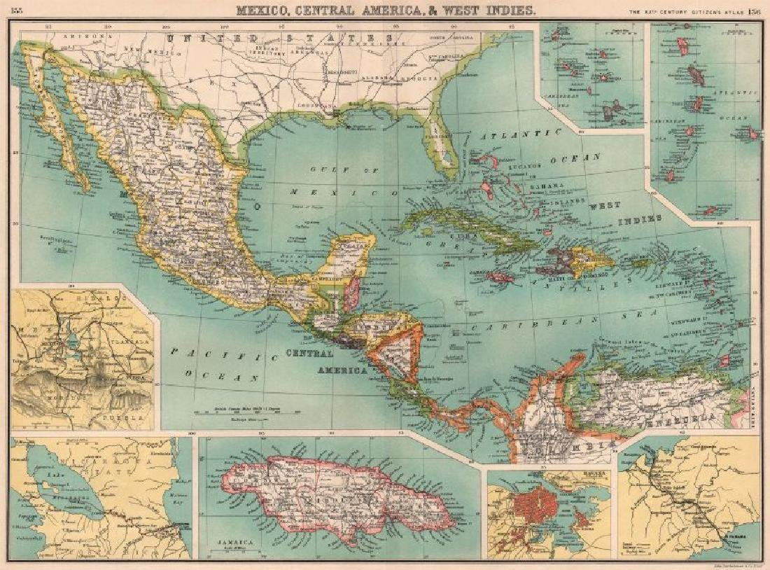 MEXICO CENTRAL AMERICA WEST INDIES. Panama & Proposed