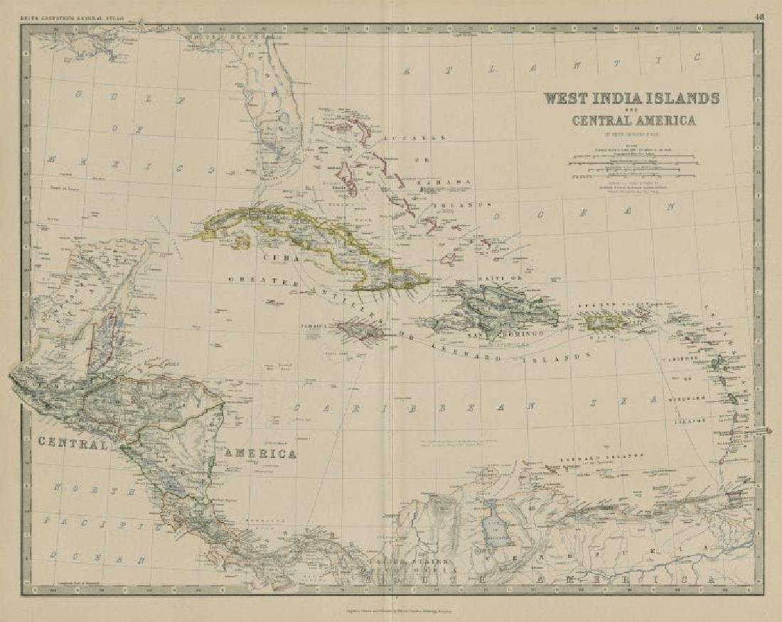 West India Islands & Central America. Caribbean.