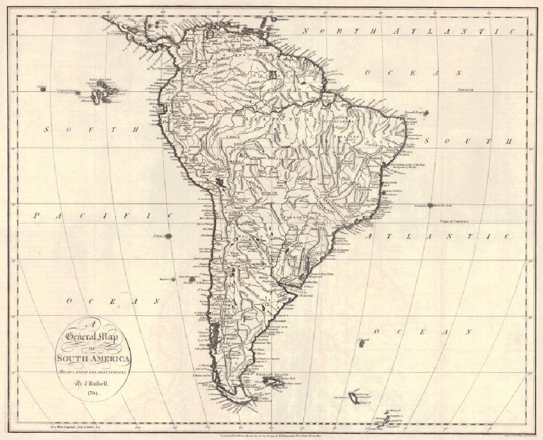 General Map of South America