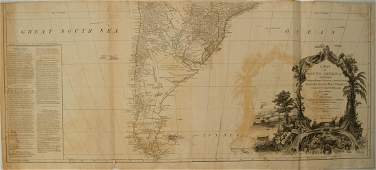 1779 Sayer Map of South America' Southern Portion