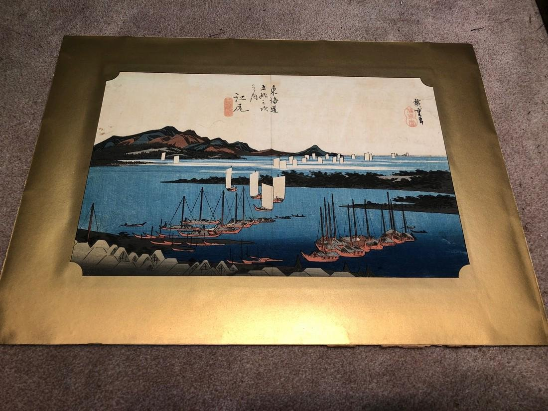 Ando Hiroshige Woodblock Distant View of Miho at Ejiri - 2