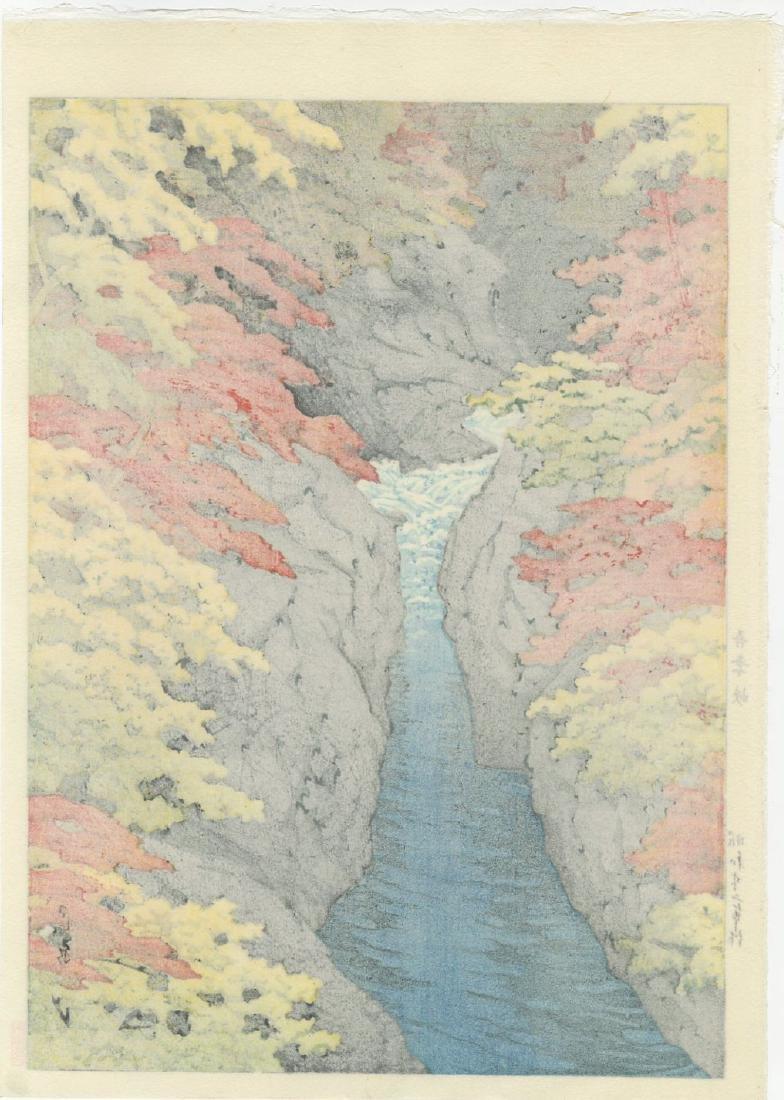 Kawase Hasui Woodblock Azuma Gorge - 2