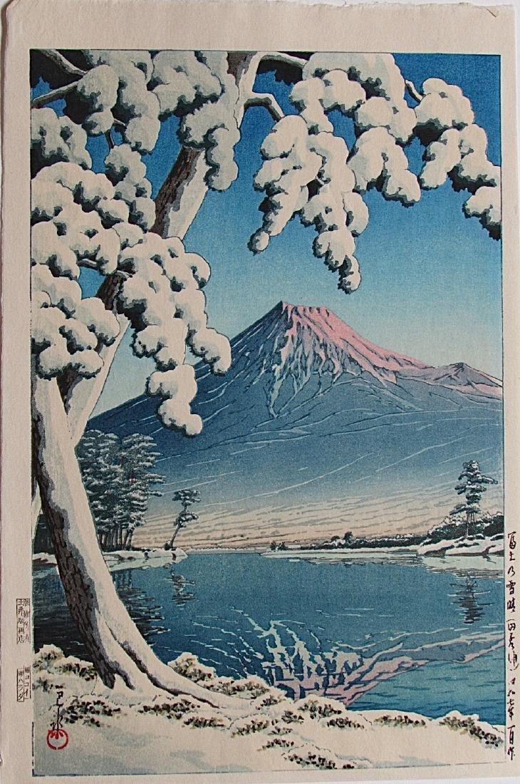 Kawase Hasui Woodblock Clearing After Snowfall