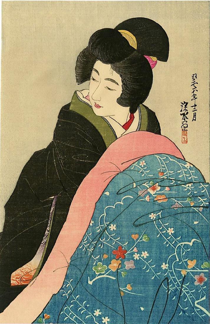 Shinsui Ito Woodblock A Japanese Woman