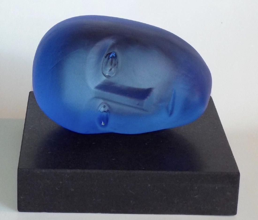 1997 Kosta Boda Resting Head Sculpture, Bertil Vallien