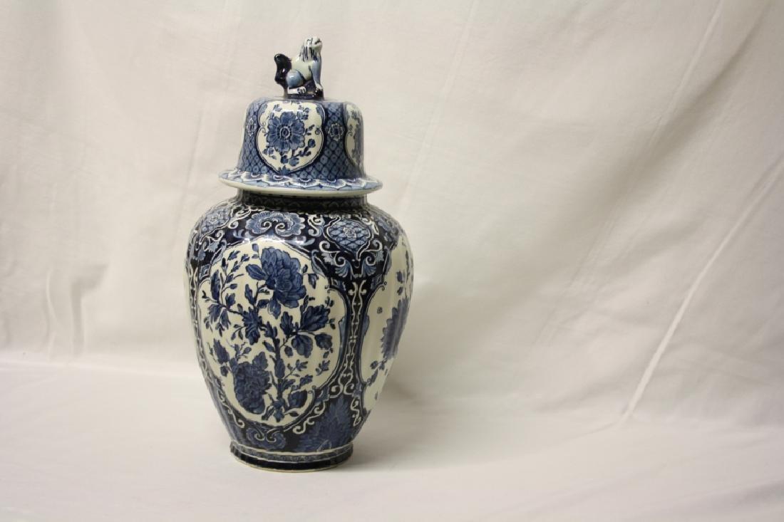 Delft Porcelain Jar Blue and White