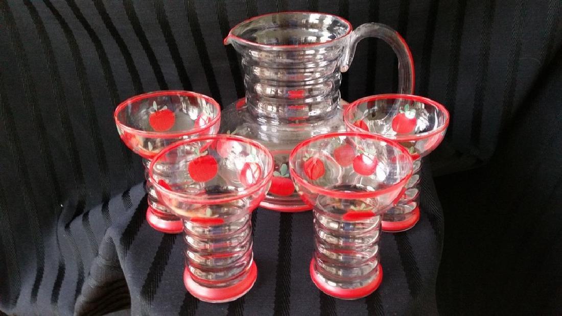 Vintage Glass Tomato Juice Set
