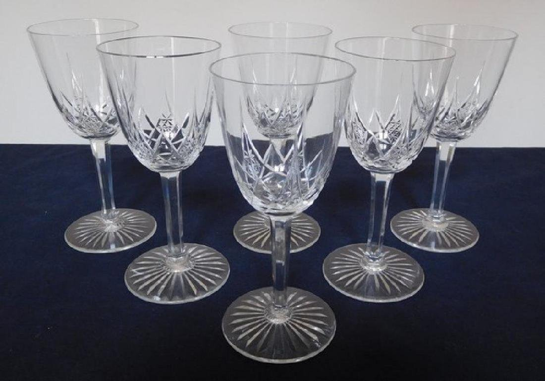 Baccarat France - 6 crystal wine glasses, Epron pattern