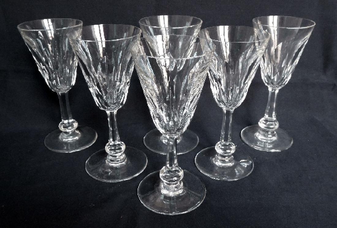Baccarat France - 6 crystal wine glasses, Picardie