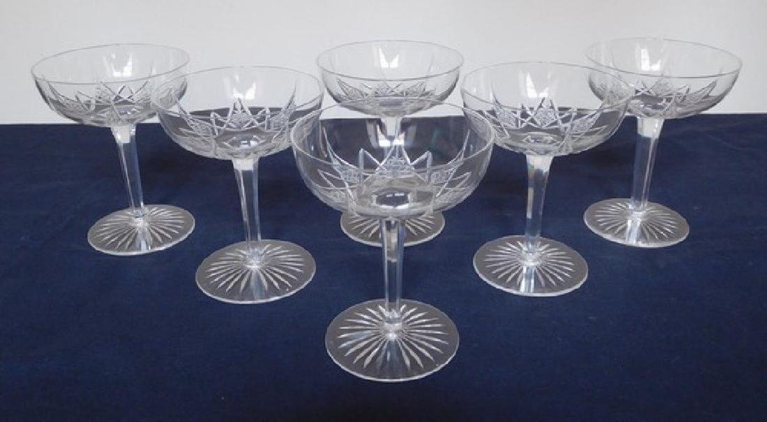 Baccarat France - 6 crystal Champagne glasses sherbets