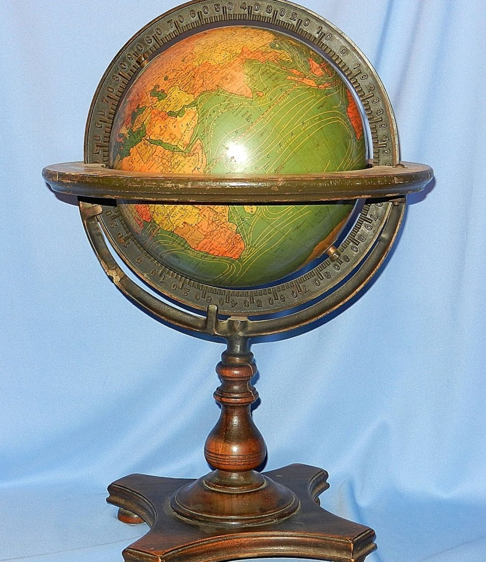 Vintage Kittinger Company Terrestrial Table Globe