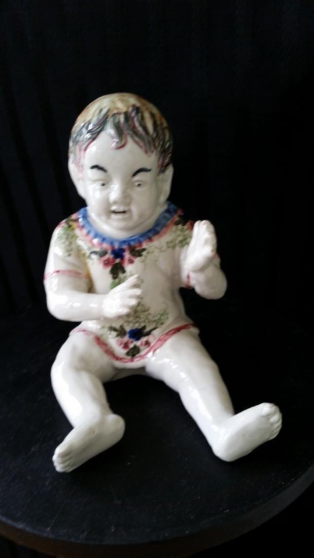 Majolica Figure of a Child