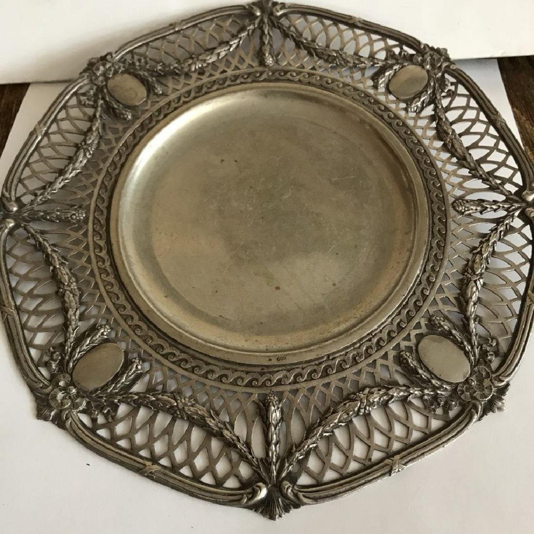 Antique silver 800 plate