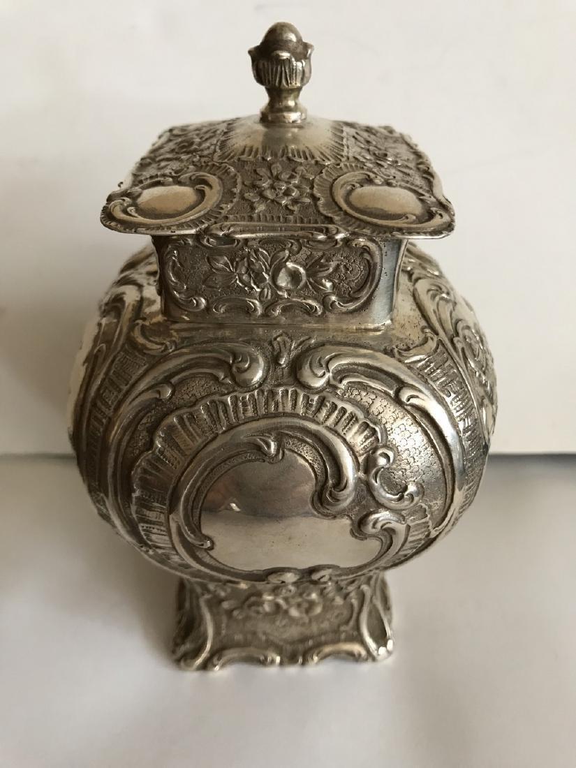 German 800 silver tea caddy