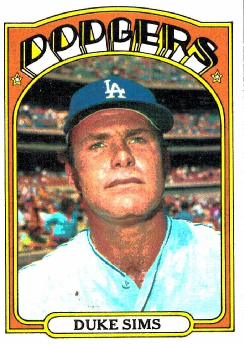 1972 Topps Duke Sims