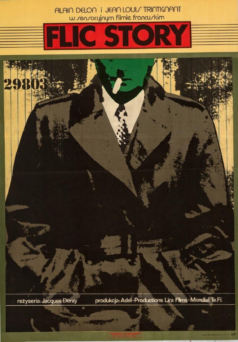Flic Story 1975 Polish Poster Alain Delon