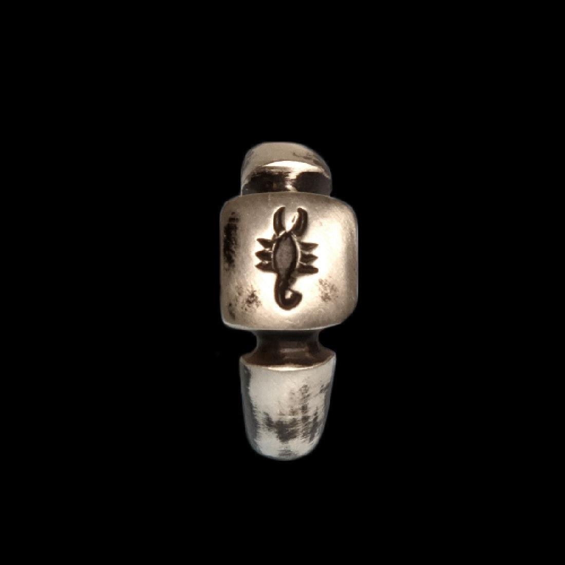 Roman Silver Ring with Scorpion